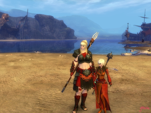 My norn guardian with Salimael, the human elamentalist